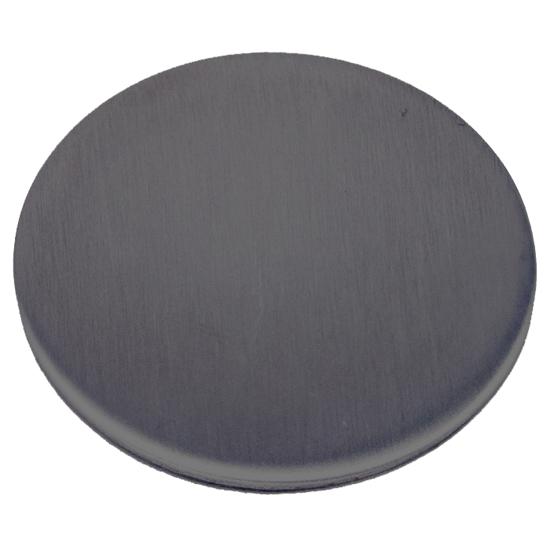 Blindskylt 520F DT 36-70MM rostfritt.PVD.mattsvart