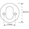 Cylinderskylt 520K DT 36-70MM rostfritt.PVD.mattsvart