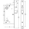 Eltryckeslås SL521 Omvänd funktion med split vänster 12-24 V AC/DC, Dorndjup 50 mm Safetron