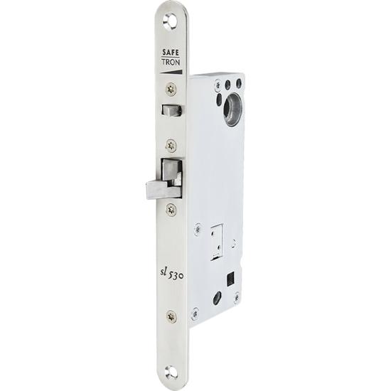 Eltryckeslås SL530 Rättvänd funktion 12-24 V AC/DC, Dorndjup 50 mm Safetron