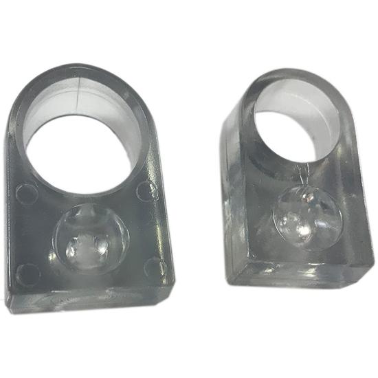 Handtagsbuffert 175 för trycken 19mm transparent
